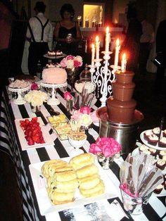 Paris Party Chocolate Bar!!! We should get them a chocolate bar