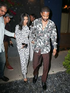 Big Sean Steps Out With Jhene Aiko Wearing A Salvatore Ferragamo Shirt And Jimmy Choo Shoes