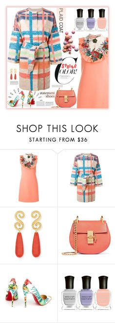 """""""Spring Color"""" by fassionista ❤ liked on Polyvore featuring Gucci, Tsumori Chisato, Splendid, Chloé, Christian Louboutin, Old Navy, Deborah Lippmann, Spring, statementshoes and plaidcoats"""