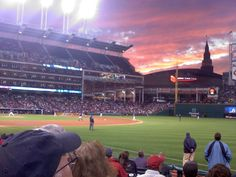 Indians Game - Cleveland.  Whenever said Cleveland was ugly has never seen how beautiful it really it.