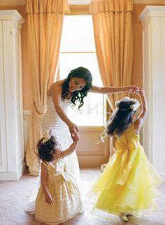 A Sunshine Hued Wedding in Tuscany Destination Wedding Photographer, Destination Weddings, Yellow Bridesmaid Dresses, Tuscan Wedding, Bride Getting Ready, Dream Wedding, Wedding Dreams, Flower Girl Dresses, Flower Girls