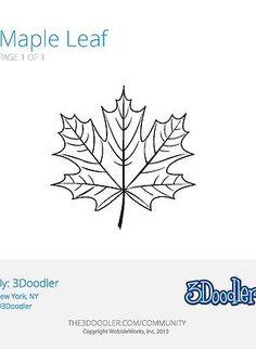 Maple Leaf - 3Doodler …   Ideas   …