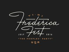 A type lockup for an upcoming block party. Frederica Fest: