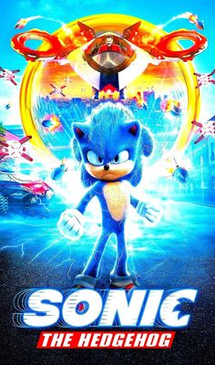"""008 Sonic the Hedgehog 2019 Hot Movie 42/""""x24/"""" Poster"""