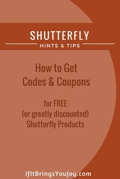 Proven tips by an Shutterfly enthusiast. Valuable tips to get Shutterfly coupons and codes. #Shutterfly