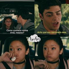 Lara Jean e Peter Kavinsky😍 Lara Jean, Movie Songs, Movie Quotes, Series Movies, Movies And Tv Shows, Love Is Scary, Jean Peters, Thirteen Reasons Why, Top Memes