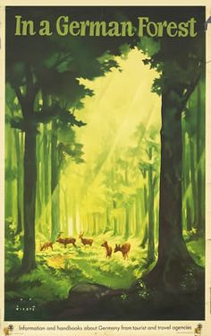 Wiertz, Jupp : In a German Forest (Deer), 1935 ca.