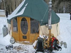 """Yurt - want one! could build in backyard as """"trial"""" for use in other environment or other land/lot use..."""