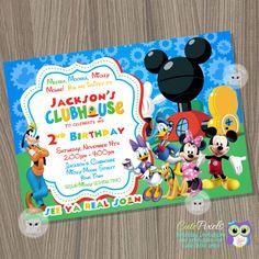 Mickey Mouse 1st Birthday Invitations Birthday Invitation For Kids
