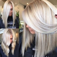 Are you looking for best hair colors to apply for long hair? Just see here, we have made a collection of fantastic long balayage colored hairstyles Blonde Hair Looks, Summer Blonde Hair, Cool Blonde, Hair Color And Cut, Hair Shades, Pinterest Hair, Platinum Blonde Hair, Great Hair, Hair Highlights
