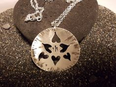 flower pendant  silver flower necklace   sterling by MyElesi, $40.00