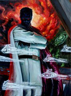 Grand Admiral Thrawn Star Wars Books, Star Wars Rpg, Star Wars Characters, Star Wars Concept Art, Star Wars Fan Art, Grand Admiral Thrawn, War Novels, Star Wars Wallpaper, Sci Fi Art