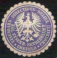 55 - Vignette - Königliche Eisenbahngesllschaft zu Crefeld - Krefeld