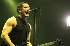 Trent Reznor of Nine Inch Nails performs in Biddinghuizen, Netherlands.