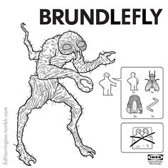 "Cronenberg's ""The Fly"" : IKEA STYLE - By : Ed Harrington Illustrations."