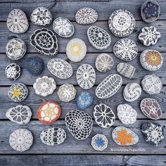 intheyarngarden craft crochet stone stonecrochethellip