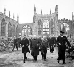 November 14, 1940 – World War II: In England, Coventry is heavily bombed by German Luftwaffe bombers. Coventry Cathedral is almost completely destroyed.
