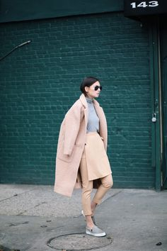 This khaki outfit is far from mediocre.