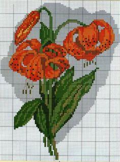 ru / Photo # 9 - Different flowers - Tatjana-vas Cross Stitch Heart, Cross Stitch Borders, Cross Stitch Flowers, Cross Stitching, Cross Stitch Patterns, Mosaic Flowers, Cross Stitch Pictures, Different Flowers, Orange Flowers