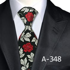 New Man's Fashion Accessories Floral Tie Classic Silk Neck Tie Business Jacquard Woven Neckties Free Shipping