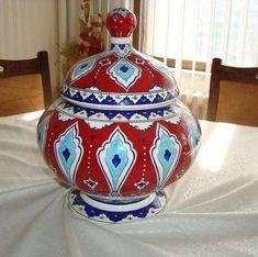 Turkish Plates, Turkish Tiles, Islamic Tiles, Pottery Patterns, Turkish Design, Pottery Teapots, Hand Built Pottery, Gourd Art, Pottery Studio