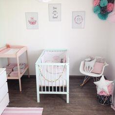We love the pastels, thank you #babygirl #babyroom #mokee