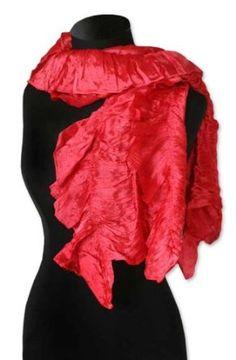 Scarf, 'Red Extravaganza' NOVICA. $51.99