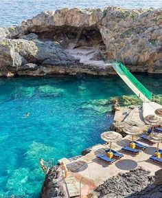 Secret rocky beach in Crete Island,Greece