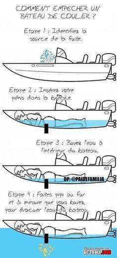 Comment empêcher un bateau de couler ? - Be-troll - vidéos humour, actualité insolite