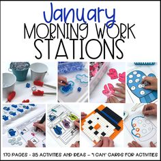 Gather great ideas for January Morning Work Stations in your classroom.