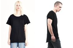 Ginza Terry Pocket Tee / Black