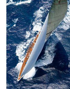 "- ""Ranger"" at Antigua Classic Yacht Regatta- x Custom Frame - Onne van der Wal Classic Sailing, Classic Yachts, J Class Yacht, Wale, Yacht Boat, Sail Away, Wooden Boats, Tall Ships, Water Crafts"