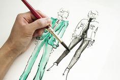 Victoria-Riza Fashion Illustrator   Frame Denim Fall 2016 RTW