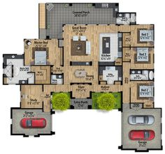 Engaging Hill Country House Plan - 430011LY | 1st Floor Master Suite, Butler Walk-in Pantry, CAD Available, Den-Office-Library-Study, European, Hill Country, PDF, Prairie, Split Bedrooms, Wrap Around Porch | Architectural Designs