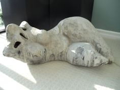Lithe  LARGE Original Female White Cement by RasorsSculptures, $2800.00