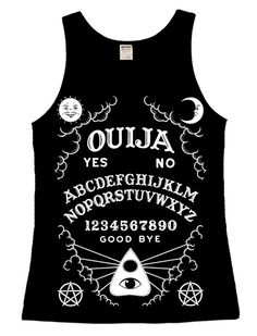 0c1d5fa1be8 Ouija Board Ladies Vest Top - Twisted Apparel Alternative Clothing Brand