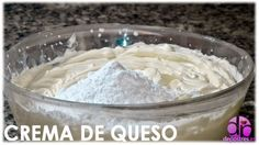 CREMA DE QUESO Cupcakes, Relleno, Icing, Sugar, Desserts, Food, Puff Pastries, Custard, Cooking Recipes