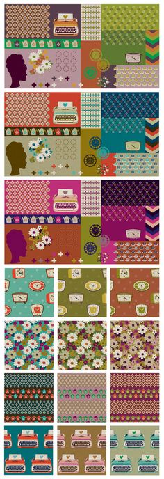 Very cool retro fabrics! Got to find where they are sold and get me some!