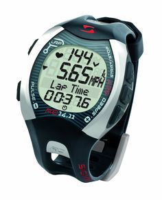 Sigma RC14.11 Running Heart Rate Monitor (Grey). Heart Rate, Pace, Distance. Programmable zone, Zone indicator, Zone Alarm. Calorie Counter, Ave HR, Current HR, Max HR. Lap counter(99), Backlight, Waterproof. Includes docking station and SIGMA DATA CENTER software.