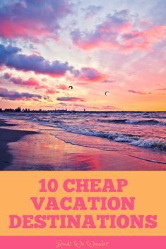 These 10 cheap places to travel are perfect for any budget! You won't even feel like you're on a budget when you visit these destinations. Cheap Vacation Destinations, Cheap Places To Travel, Vacation Ideas, Cheap Travel, Vacation Spots, Florida Vacation, Florida Travel, Couples Vacation, Disney World Tips And Tricks