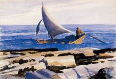 urgetocreate:  Edward Hopper, The Dory (Two Lights, Maine), watercolor