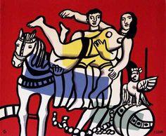 Fernand Léger, Au Cirque on ArtStack #fernand-leger #art