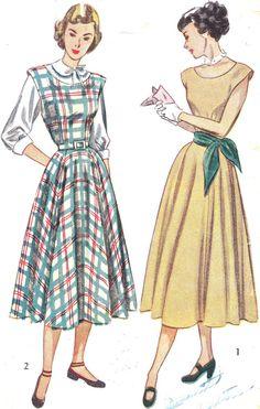 1940s Dress Pattern Simplicity 2313 Cap Sleeve by paneenjerez, $10.00