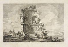 """""""Vue d'un Monument triomphal élevé en l'honneur de Caius, Julius Antiochus, Philopappus; à Athenes,"""" Jacques Philippe Le Bas (engraver), David Le Roy (artist), ca. 1758"""
