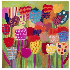 Colorful garden by Lesley Grainger