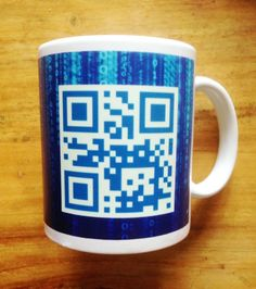 Your Name or Message in QR Code personalised Mug by Hx5Designs