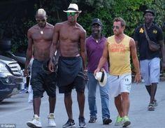 Mario Balotelli displays sculpted abs as he takes Turkey pre-season break with pals Neymar, Sports News, Sculpting, Mario, Mens Sunglasses, Abs, Turkey, Group, Beautiful