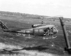 Troops in bound on an operation. ~ Vietnam War