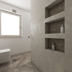 ELITE bathroom design   Three good-sized niches offer enough storage space for the toiletries   by CADFACE