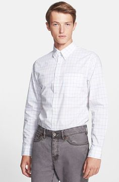 Jack Spade 'Feton' Trim Fit Windowpane Check Shirt available at #Nordstrom